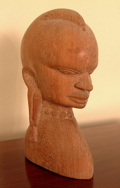 African kiganda carved head carving item for sale
