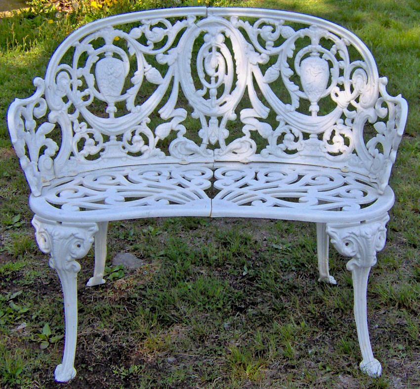 Cast Iron Garden Bench In The Adamesque Style C1880 Item