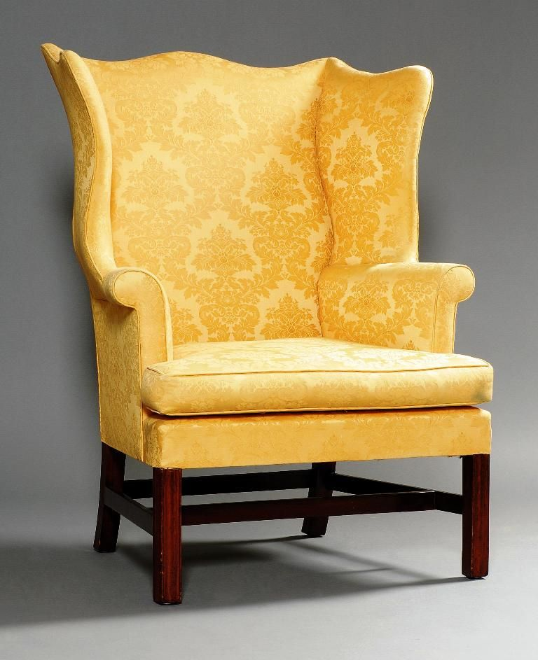 Rare 18th C American Chippendale Mahogany Base Molded Leg Wing Chair Circa:  1780-1795 - For Sale - Rare 18th C American Chippendale Mahogany Base Molded Leg Wing Chair