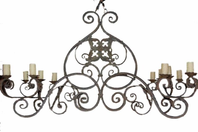 Massive Antique French Iron Chandelier - For Sale - Massive Antique French Iron Chandelier For Sale Antiques.com