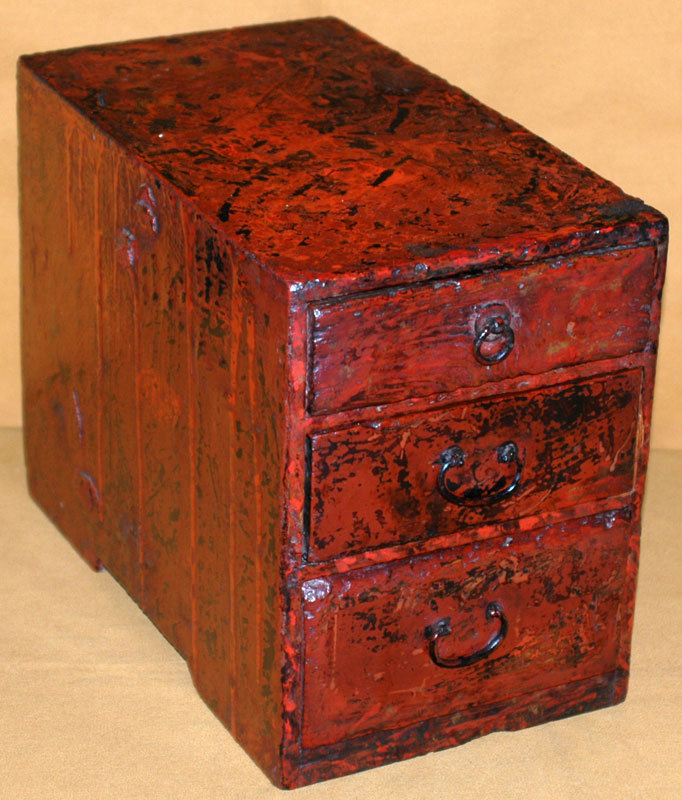 Antique japanese wakasa lacquer workman 39 s chest for sale for South asian furniture