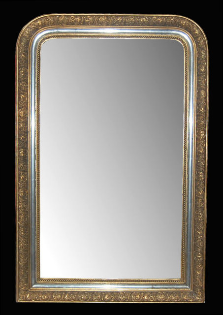 French gold silver leaf mirror for sale for Silver mirrors for sale