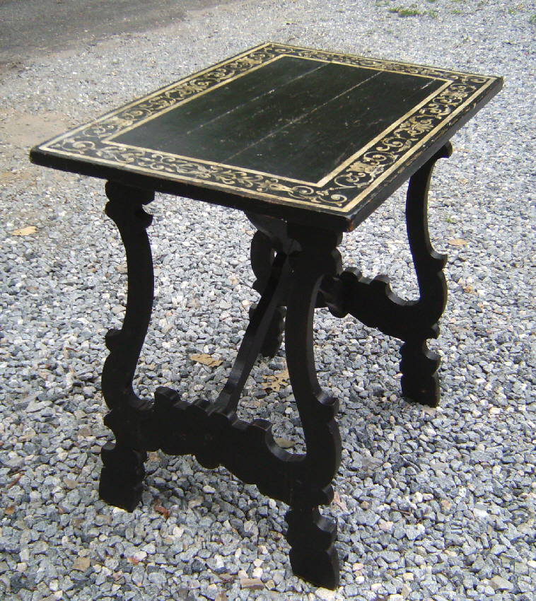 Small 19thc Spanish trestle table with painted top : Item # 7598 - For ...