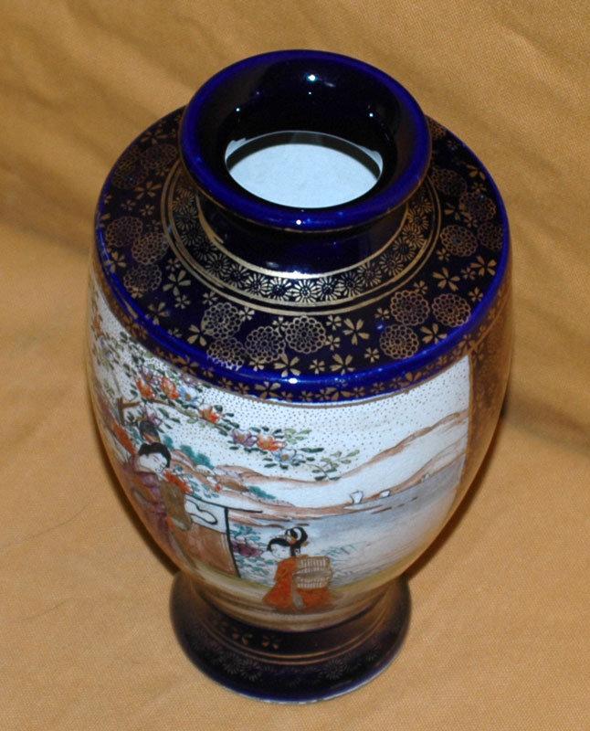 Antique Japanese Satsuma Vase Taisho Period C1920 For Sale