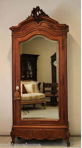 Ravishing Armoire Antique French Louis Xv Carved For Sale