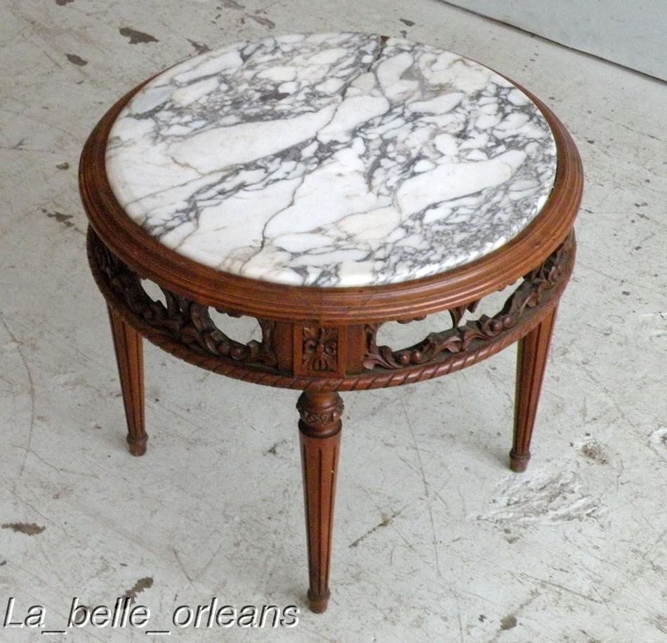 Charming French Lxi Round Coffee Table Broken Marble For Sale Classifieds