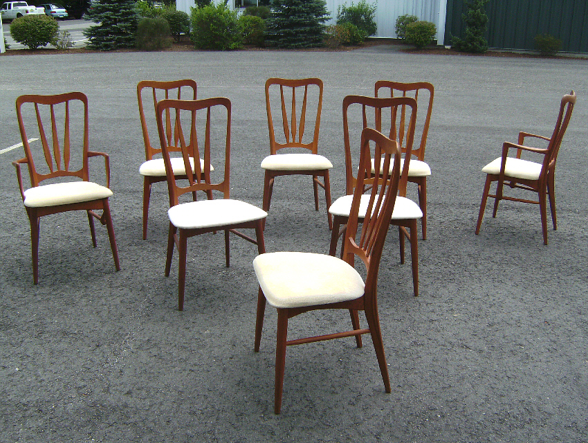 hornslet danish modern teak dining chairs item 7628 for sale