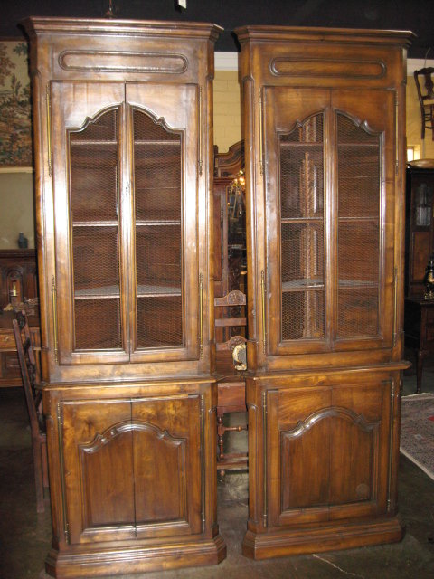 This is a handsome pair of French walnut corner cabinets! They are made  with wonderful. Antique Corner Cupboards For Sale ... - Antique Corner Cabinet For Sale Antique Furniture
