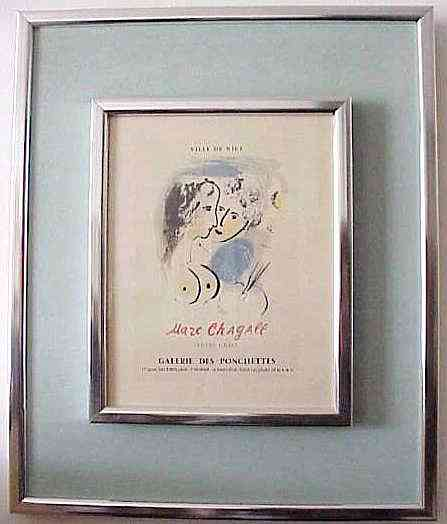 Marc chagall 1887 1985 with letter of authenticity ville de nice