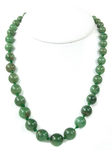Jade Necklace on 19th Century Chinese Jade Bead Necklace For Sale   Antiques Com