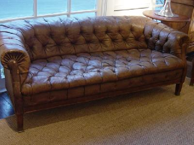 English Tufted Leather Sofa CRT2054809 For Sale Antiquescom
