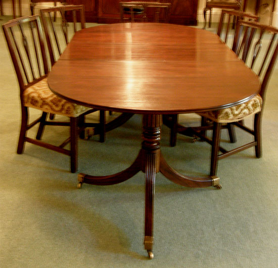 Diner Tables For Sale: Twin Pedestal Dining Table For Sale