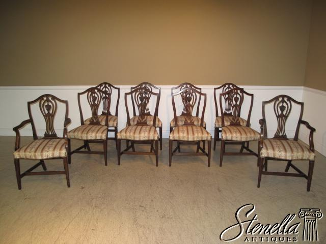 1390 5315  Proudly offered for sale is the set of 10  Solid Mahogany  New  England style dining room chairs made by KITTINGER  These chairs are from  the. 1390 5315  Set 10 KITTINGER Hist  Newport Dining Chairs For Sale