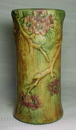 Weller Pottery Woodcraft Flemish Floral Tall Vase For Sale Antiques Com Classifieds