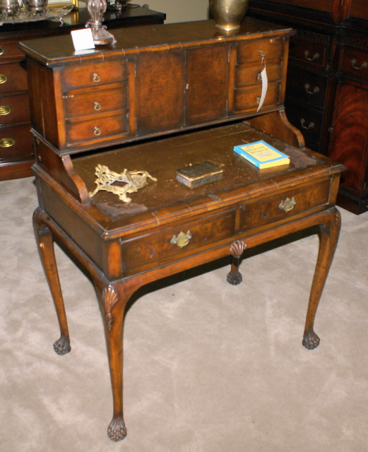 Queen Anne Leather Top Late 1800s Desk For Sale Classifieds