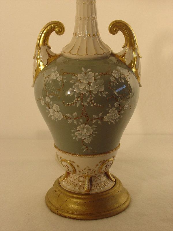 Pate' Sur Pate' Type Porcelain Vase Now A Lamp For Sale ...