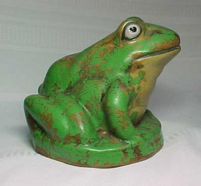 Weller Pottery Coppertone Frog Fountain Garden Ornament