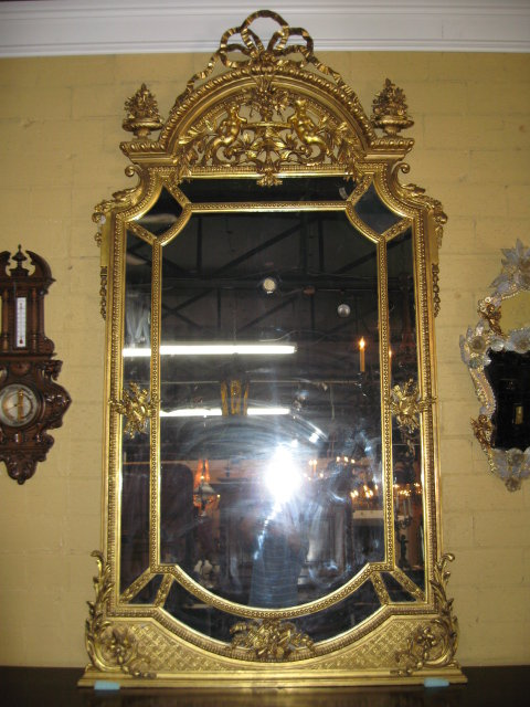 A Fabulous French Gold Gilded Mirror For Sale Antiques