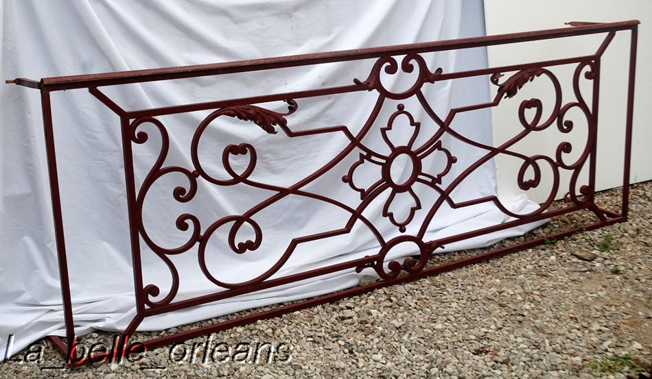 A superb french wrought iron balcony panel l k for sale classifieds - Wrought iron decorative wall panels ...