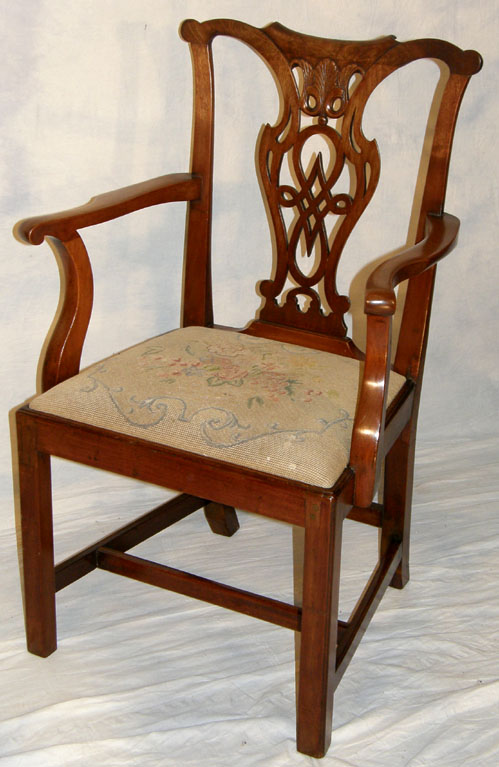 Chippendale Period Mahogany Chair Circa 1780 fine Chippendale period  Georgian mahogany antique chair with fine carved and pierced interlaced  ribbon back, ... - Chippendale Ribbon Back Carver Chair For Sale Antiques.com