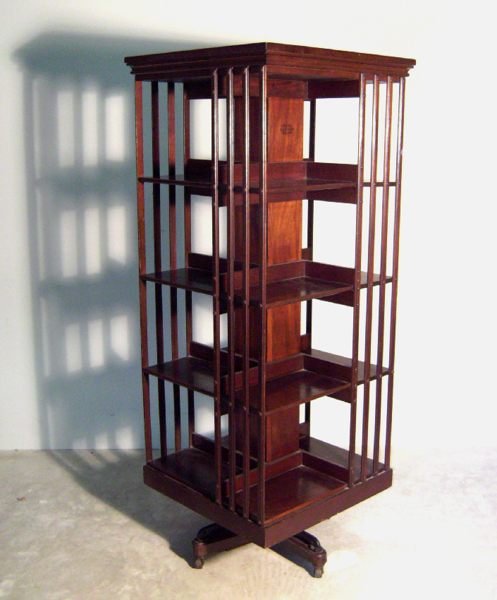 Danner Victorian Mahogany Rotating Bookcase C1890 Measures 6075 Inches High And 24 X Square The Individual Compartments Measure From 1125