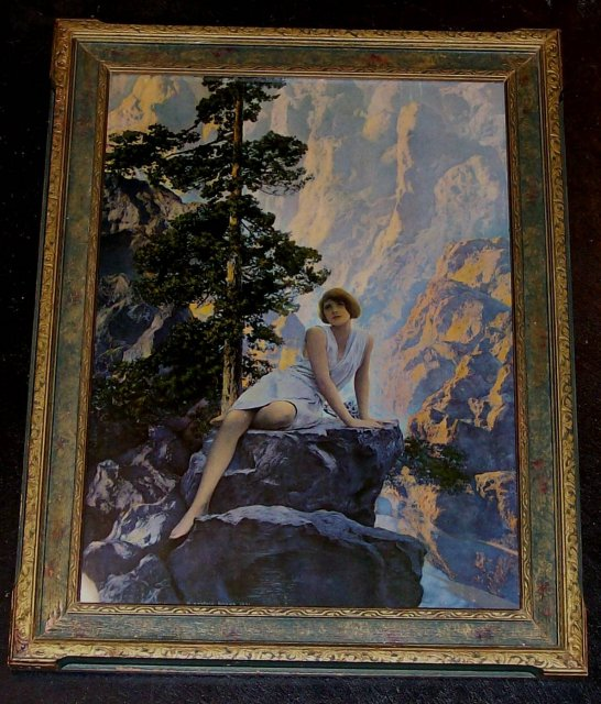 Maxfield parrish print solitude for sale for Poster prints for sale