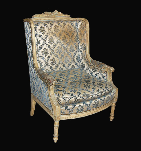 louis xvi lacquered bergere for sale classifieds. Black Bedroom Furniture Sets. Home Design Ideas