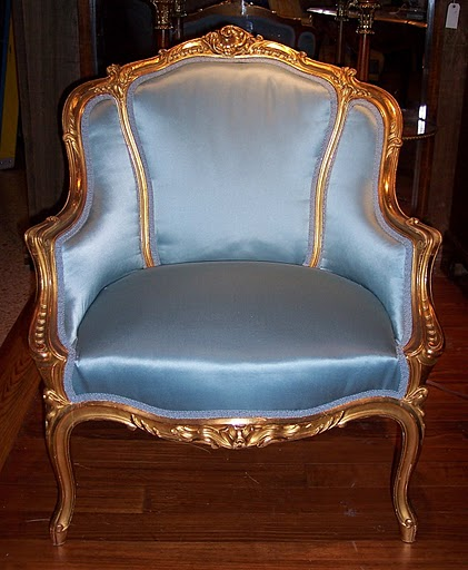 Pair antique French gold leaf Boudoir chairs, circa 1870-1880.- FAC35 - For  Sale - Pair Antique French Gold Leaf Boudoir Chairs, Circa 1870-1880