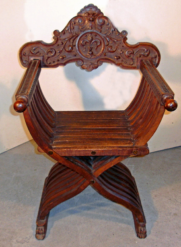 Italian Savanarola Folding Chair C1880 Item 7471 For