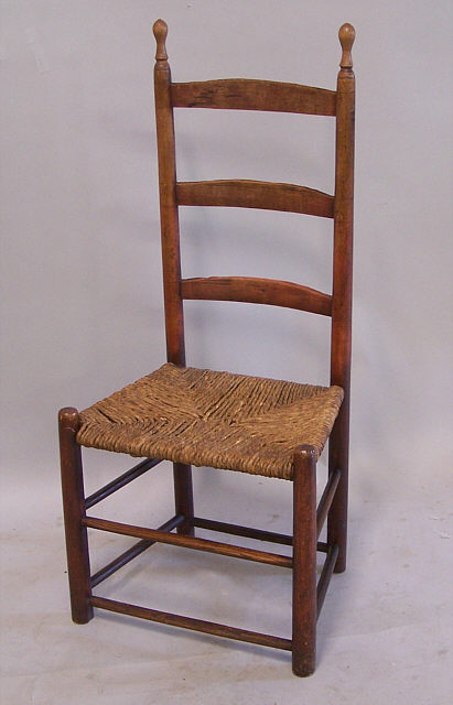 Period American country ladder back side chair c 1740. This period country  chair retains its - Antique Ladder Back Chairs Antique Furniture
