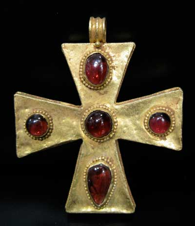 Byzantine revival gold cross pendant inlaid with garnets os236 byzantine revival gold cross pendant inlaid with garnets os236 for sale mozeypictures Image collections