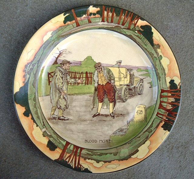 Antique English Royal Doulton Plate Item 3631 For Sale