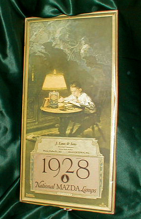 Mazda Lights Calendar by Norman Rockwell - P106 For Sale | Antiques
