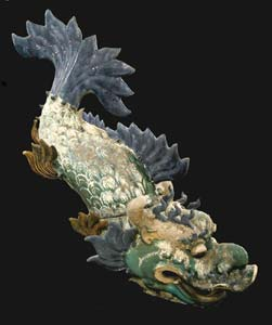 Ming glazed terracotta architectural sculpture of a dragon for Dragon fish for sale