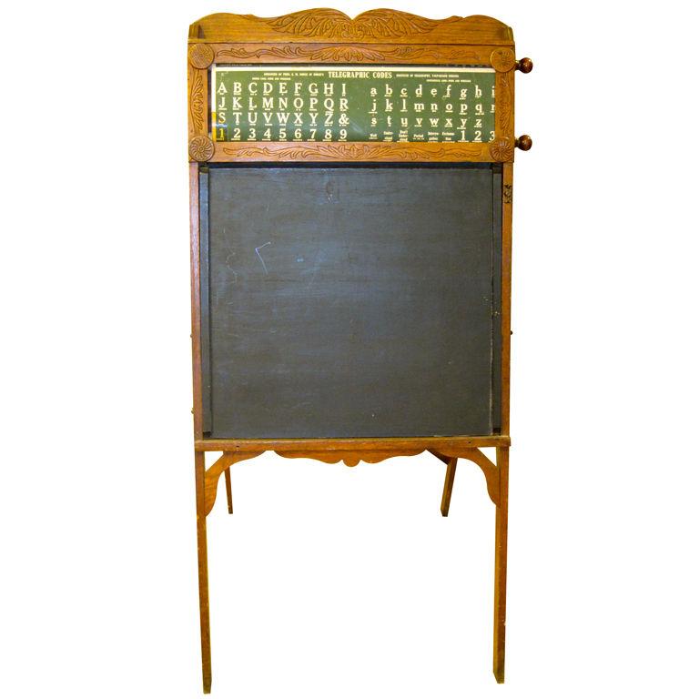 Antique Portable School Boy Easel desk Inscribed Family