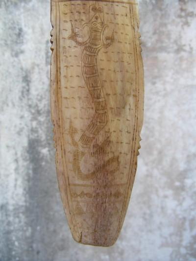 Ancestral Bone Carving Calendar Batak Old Text Naga 3 For Sale Antiques Com Classifieds