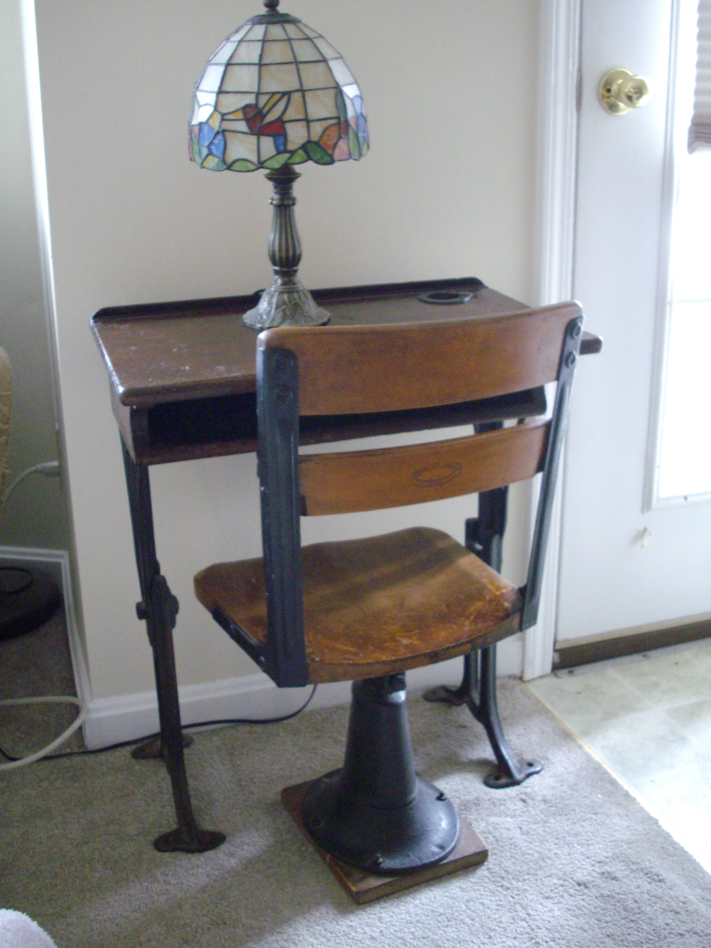 Childs Desk amp Chair by Chandler For Sale Antiquescom  : ori371507448IMGP2096 <strong>Used Reception</strong> Desks Sale from www.antiques.com size 2448 x 3264 jpeg 2495kB