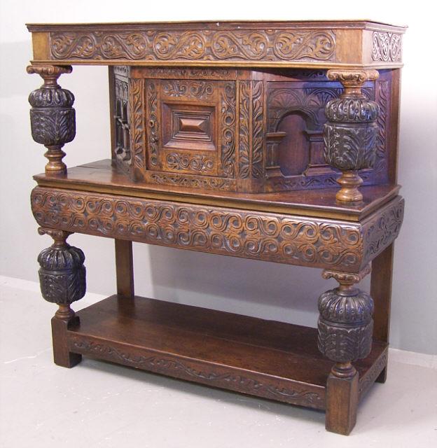 Early English Tudor Oak Court Cupboard C1700 Item 6273