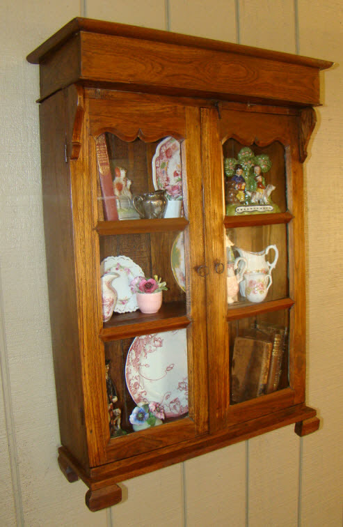 Vintage Rustic FRENCH COUNTRY Wall Cabinet Curio ~glass - For Sale - Vintage Rustic FRENCH COUNTRY Wall Cabinet Curio ~glass For Sale