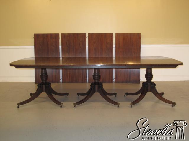 16090 kittinger triple pedestal mahogany banquet table for sale classifieds. Black Bedroom Furniture Sets. Home Design Ideas