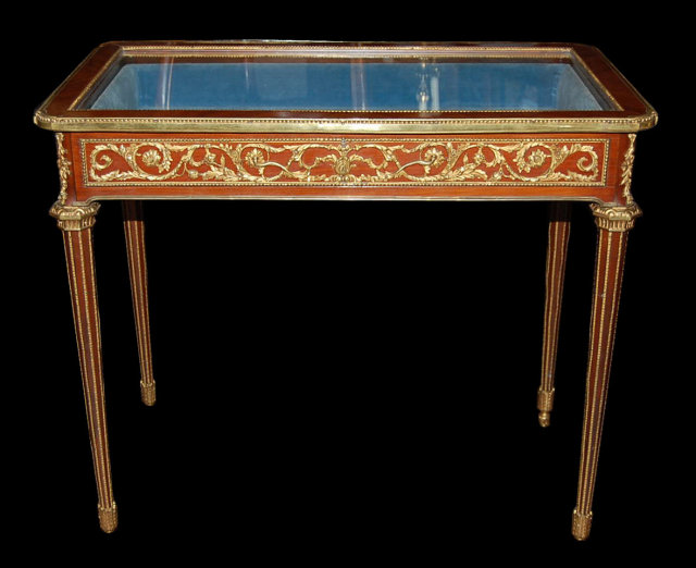 Louis xv vitrine table for sale classifieds for Table vitrine