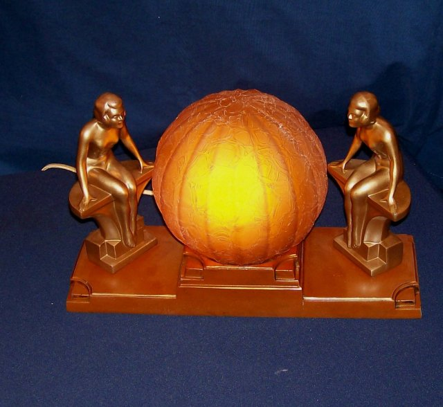 Art Deco Nu Art Double Lady Lamp For Sale Classifieds
