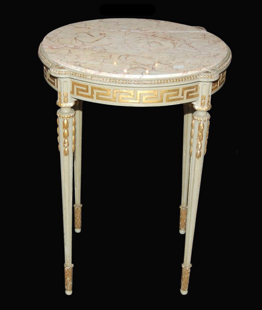 Painted French Side Table   For Sale