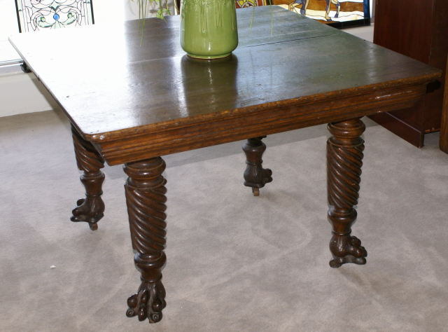 Super nice solid oak antique kitchen table For Sale | Antiques.com ...