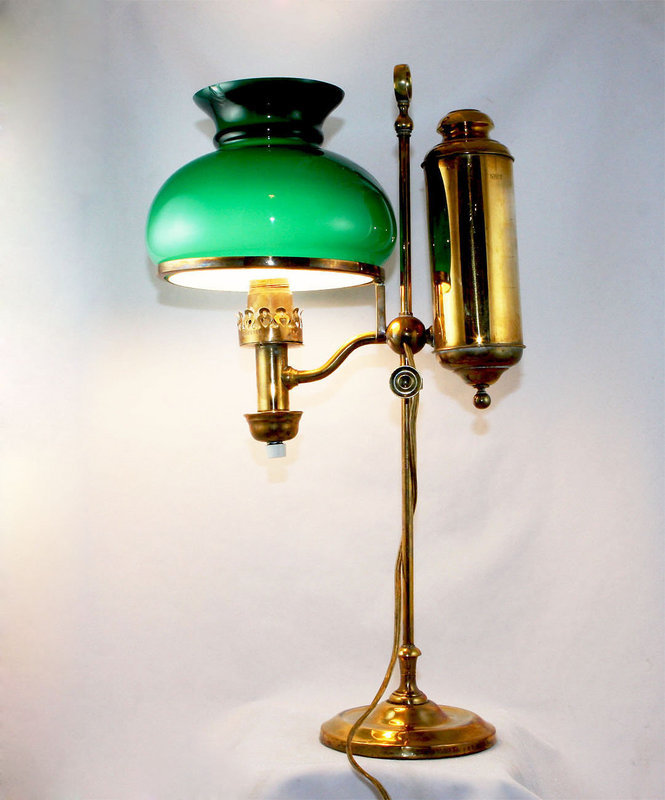 american student oil lamp now electrified for sale. Black Bedroom Furniture Sets. Home Design Ideas
