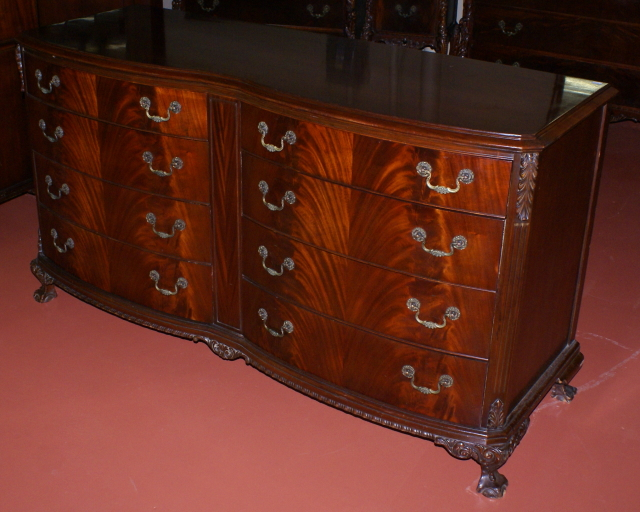 Enjoyable Super Clean Double Bow Front Chippendale Dresser For Sale Home Interior And Landscaping Oversignezvosmurscom