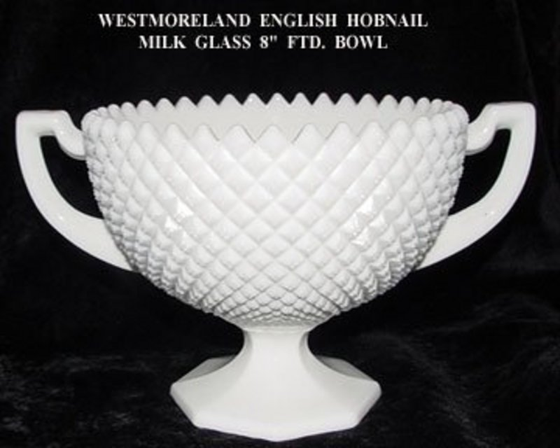 English Hobnail Milk Gl Bowl