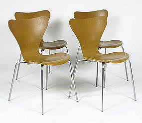 Ten Lacquered Chairs By Fritz Hansen For Sale Classifieds