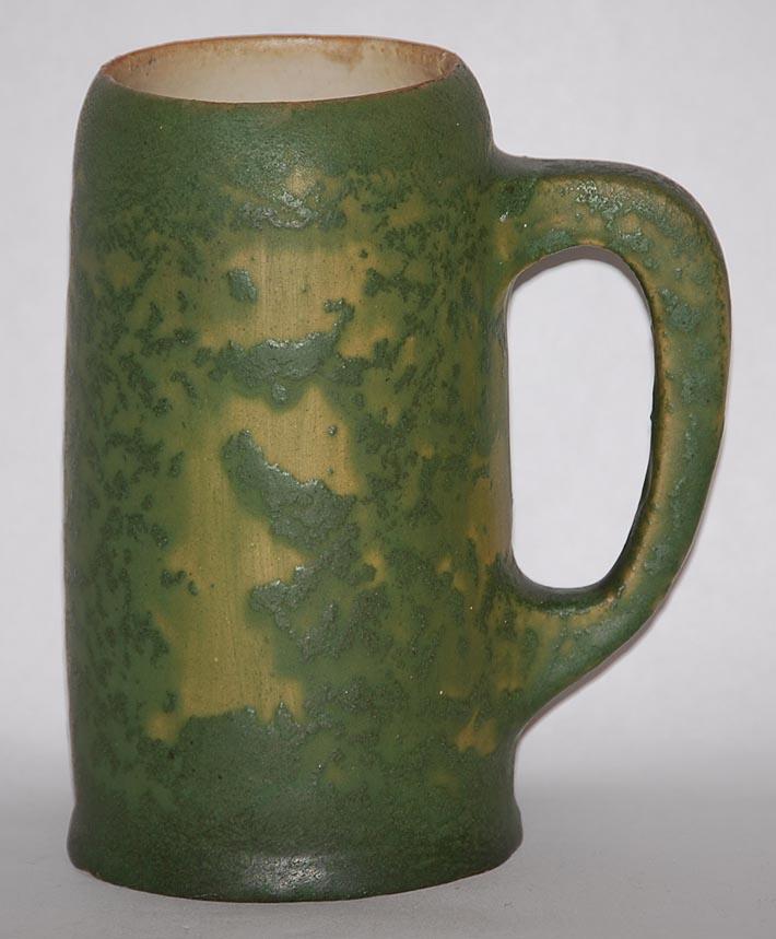 Van Briggle Pottery 1907-12 Mottled Green Tankard 673 For