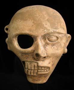Mayan Half Skull Half Face Mask Pf 3562 For Sale